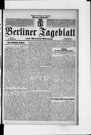Berliner Tageblatt und Handels-Zeitung vom 19.02.1914