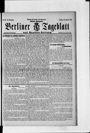 Berliner Tageblatt und Handels-Zeitung vom 20.02.1914
