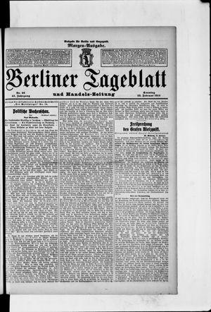 Berliner Tageblatt und Handels-Zeitung vom 22.02.1914