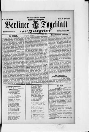 Berliner Tageblatt und Handels-Zeitung vom 23.02.1914