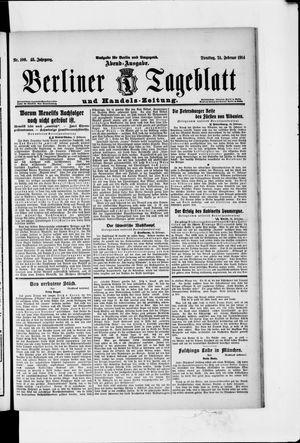 Berliner Tageblatt und Handels-Zeitung vom 24.02.1914