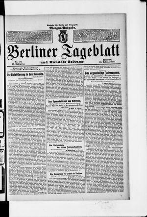 Berliner Tageblatt und Handels-Zeitung vom 25.02.1914