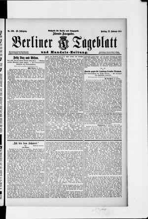 Berliner Tageblatt und Handels-Zeitung vom 27.02.1914