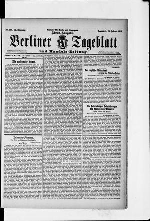 Berliner Tageblatt und Handels-Zeitung vom 28.02.1914
