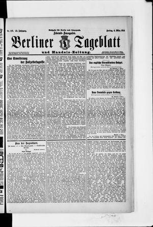 Berliner Tageblatt und Handels-Zeitung vom 06.03.1914