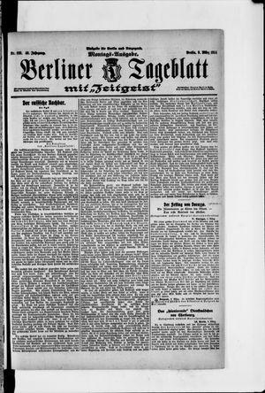 Berliner Tageblatt und Handels-Zeitung vom 09.03.1914