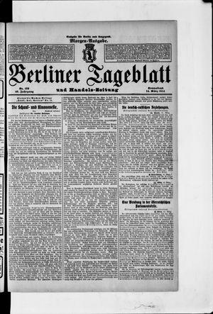 Berliner Tageblatt und Handels-Zeitung vom 14.03.1914