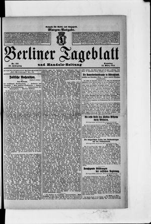 Berliner Tageblatt und Handels-Zeitung vom 15.03.1914