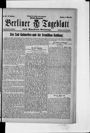 Berliner Tageblatt und Handels-Zeitung vom 17.03.1914
