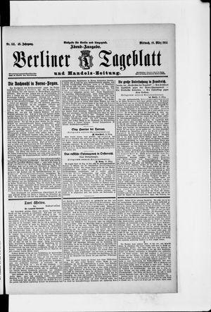 Berliner Tageblatt und Handels-Zeitung vom 18.03.1914