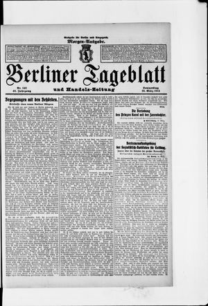 Berliner Tageblatt und Handels-Zeitung vom 19.03.1914