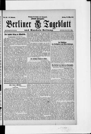 Berliner Tageblatt und Handels-Zeitung vom 20.03.1914