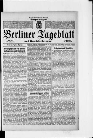 Berliner Tageblatt und Handels-Zeitung on Mar 21, 1914