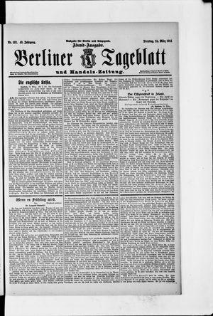 Berliner Tageblatt und Handels-Zeitung vom 24.03.1914