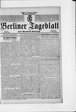 Berliner Tageblatt und Handels-Zeitung vom 25.03.1914