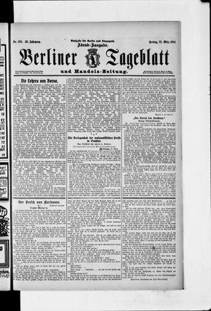 Berliner Tageblatt und Handels-Zeitung vom 27.03.1914