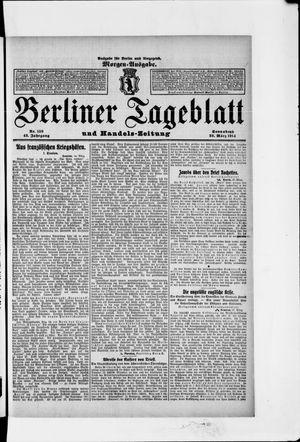 Berliner Tageblatt und Handels-Zeitung vom 28.03.1914