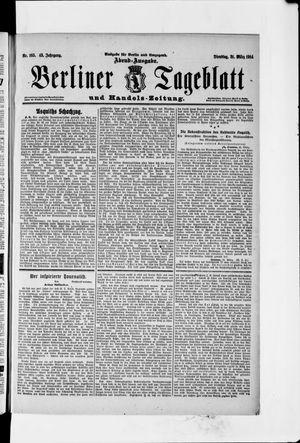 Berliner Tageblatt und Handels-Zeitung vom 31.03.1914