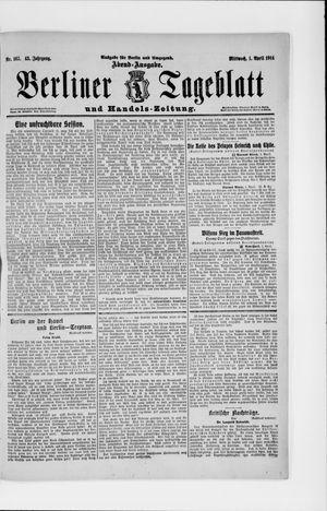 Berliner Tageblatt und Handels-Zeitung vom 01.04.1914