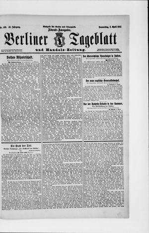 Berliner Tageblatt und Handels-Zeitung vom 02.04.1914