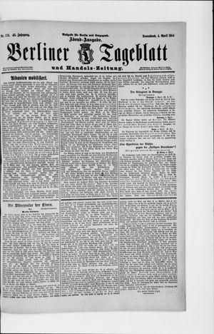 Berliner Tageblatt und Handels-Zeitung vom 04.04.1914