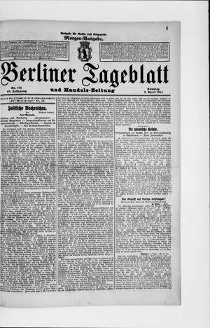 Berliner Tageblatt und Handels-Zeitung vom 05.04.1914