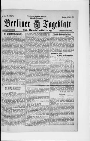 Berliner Tageblatt und Handels-Zeitung vom 06.04.1914