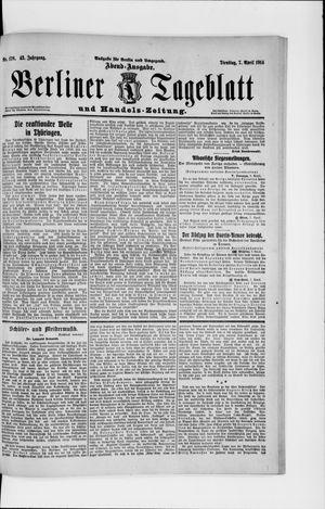 Berliner Tageblatt und Handels-Zeitung vom 07.04.1914