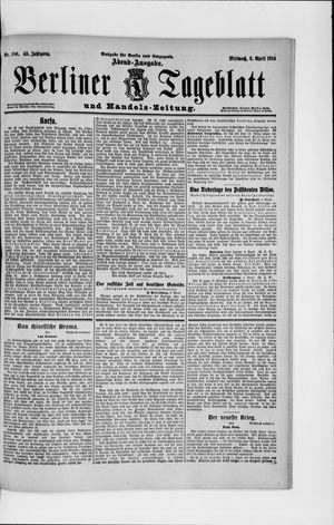 Berliner Tageblatt und Handels-Zeitung vom 08.04.1914
