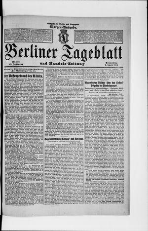 Berliner Tageblatt und Handels-Zeitung on Apr 9, 1914