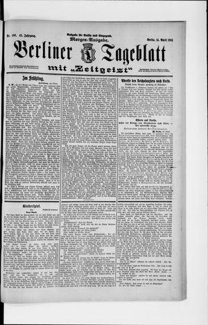 Berliner Tageblatt und Handels-Zeitung vom 14.04.1914
