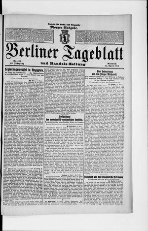 Berliner Tageblatt und Handels-Zeitung vom 15.04.1914