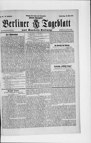 Berliner Tageblatt und Handels-Zeitung vom 16.04.1914