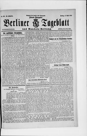 Berliner Tageblatt und Handels-Zeitung vom 17.04.1914