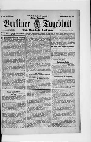 Berliner Tageblatt und Handels-Zeitung vom 18.04.1914