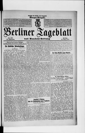 Berliner Tageblatt und Handels-Zeitung vom 24.04.1914