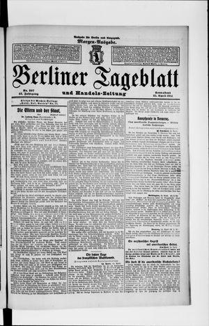 Berliner Tageblatt und Handels-Zeitung vom 25.04.1914