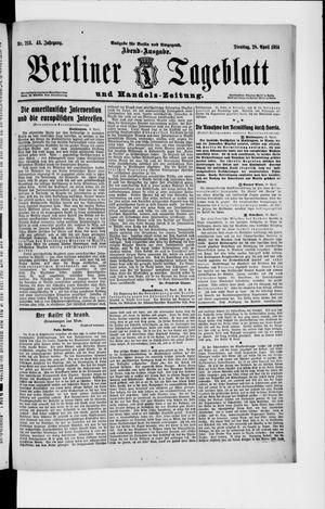 Berliner Tageblatt und Handels-Zeitung vom 28.04.1914