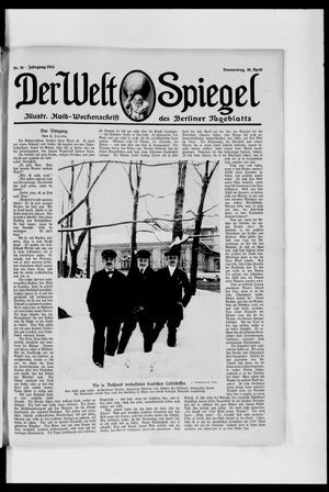 Berliner Tageblatt und Handels-Zeitung on Apr 30, 1914