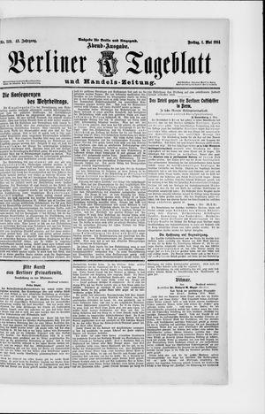 Berliner Tageblatt und Handels-Zeitung vom 01.05.1914