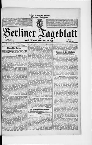 Berliner Tageblatt und Handels-Zeitung vom 06.05.1914