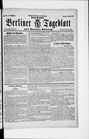 Berliner Tageblatt und Handels-Zeitung vom 08.05.1914