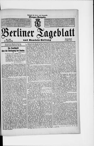 Berliner Tageblatt und Handels-Zeitung vom 09.05.1914