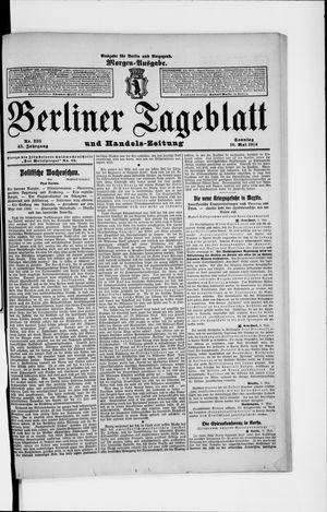 Berliner Tageblatt und Handels-Zeitung vom 10.05.1914