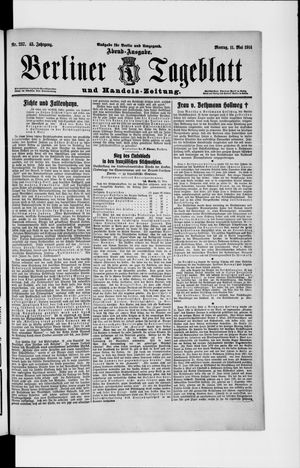 Berliner Tageblatt und Handels-Zeitung vom 11.05.1914