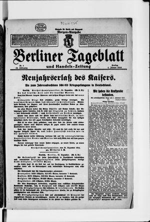 Berliner Tageblatt und Handels-Zeitung vom 01.01.1915