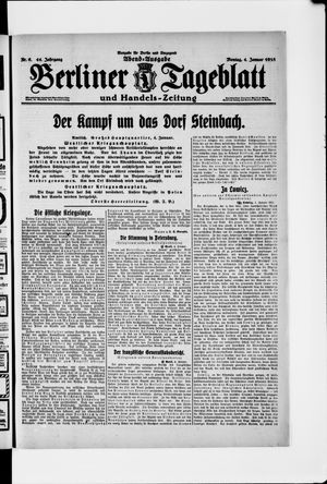Berliner Tageblatt und Handels-Zeitung vom 04.01.1915
