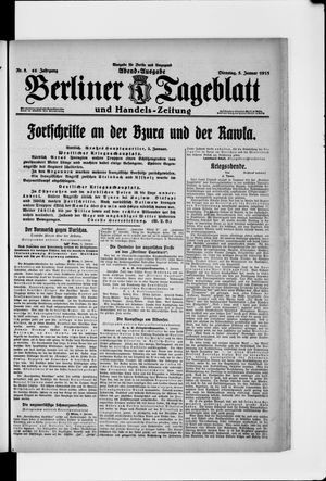 Berliner Tageblatt und Handels-Zeitung vom 05.01.1915