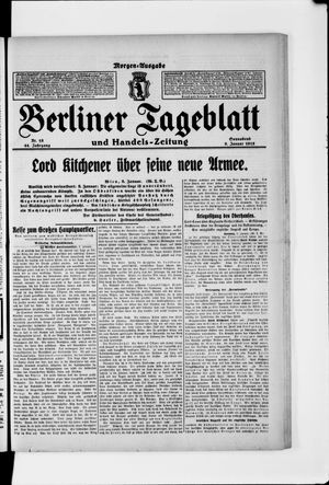 Berliner Tageblatt und Handels-Zeitung on Jan 9, 1915