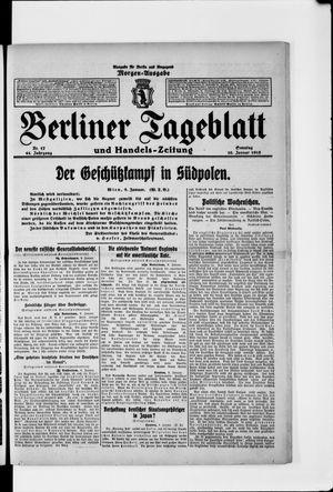 Berliner Tageblatt und Handels-Zeitung vom 10.01.1915